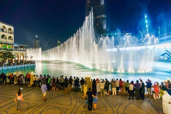 Dubai Fountain Show-Dubai City Tour with Burj Khalifa Entry Ticket